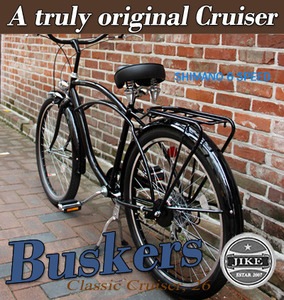 "BUSKERS  Classic Cruiser 26""  클래식 비치 크루져  Shimano 6 speed  2012 Version 버스컬스"