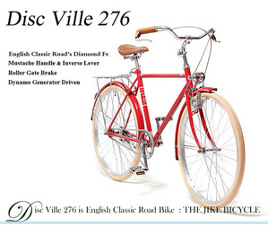 DISC VILLE 276  English Classic Road Bike  Gorgeous Red  클래식 로드 디스크 빌