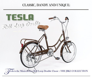 "TESLA 클래식 미니벨로20""shimano 6 speed Antique Brown"