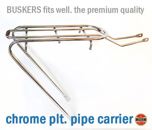 Chrome Pipe Carrier  Rear Carrier  Buskers